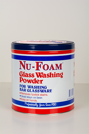 glass washing powder