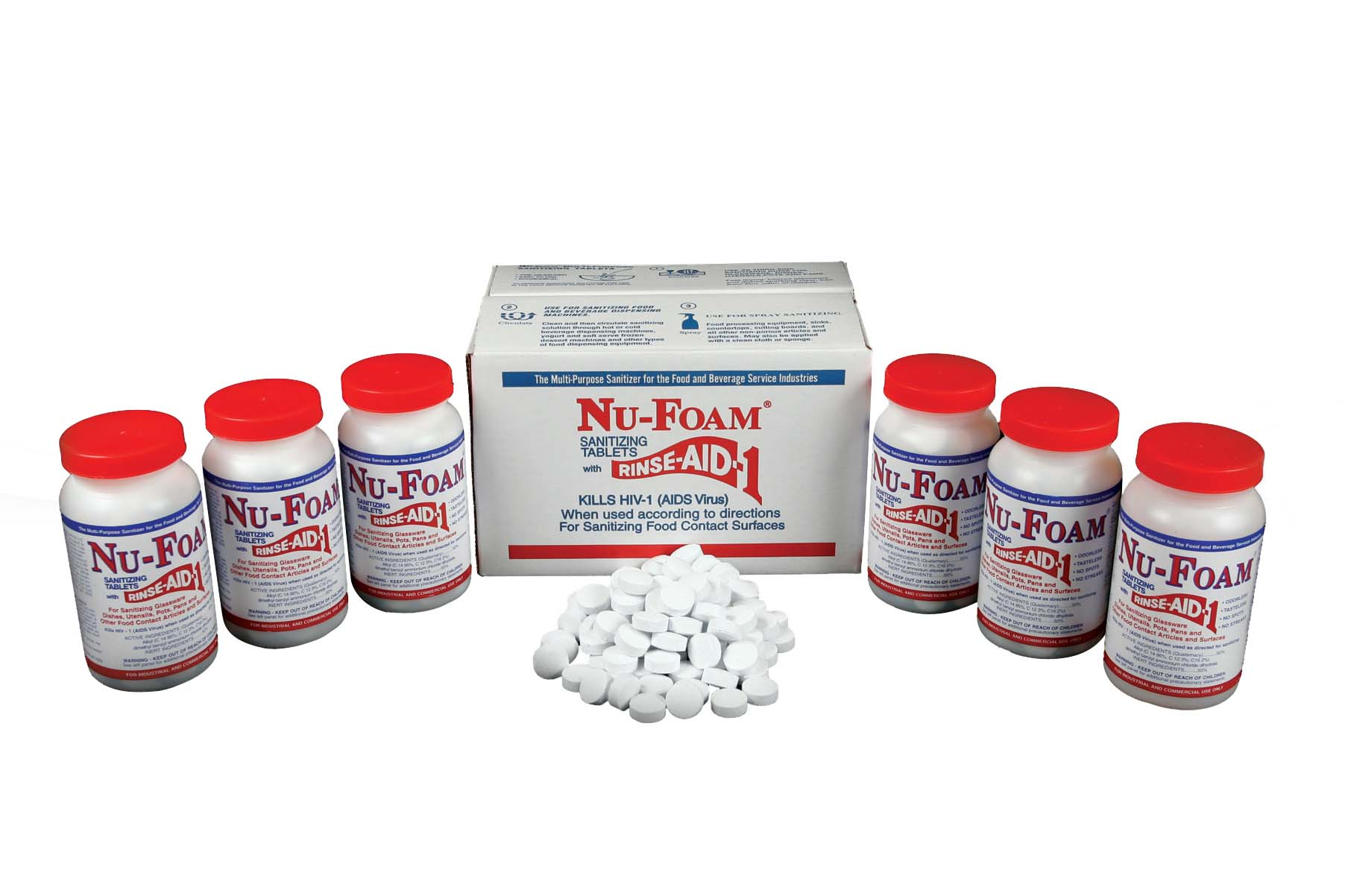 Sanitizing Tablets Long View box bottle tablets