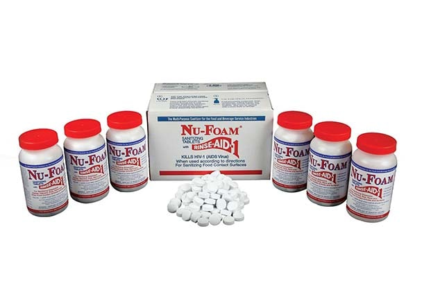 nu foam sanitizing tablets