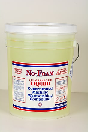 Concentrated machine warewashing compound