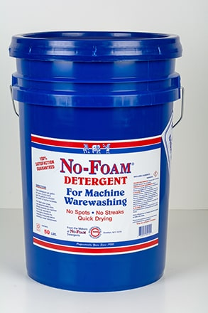 No-Foam Detergent for machine warewashing