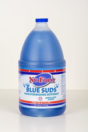 nu-foam blue suds hand dishwashing detergent