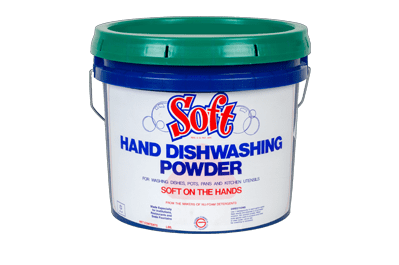 soft hand dishwashing powder